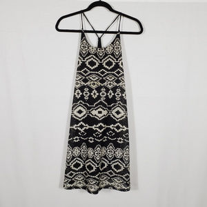 Anthropologie Black & White Mini Dress•Size M•